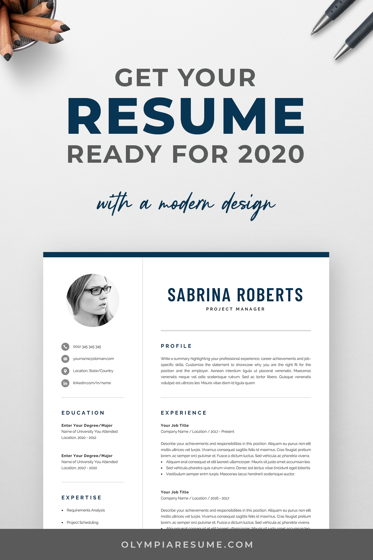 Cv Template With Photo Resume Template For Word Resume With