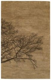 I Love This Nature Inspired Rug With Branch Pattern