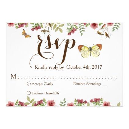 Vintage floral wedding rsvp card wedding invitations cards custom rsvp card wedding invitations cards custom invitation card design marriage party stopboris Choice Image