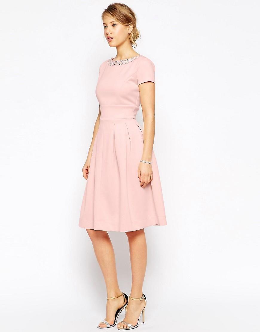 Embellished Neckline Debutante Midi Dress   Vestidos de fiesta ...