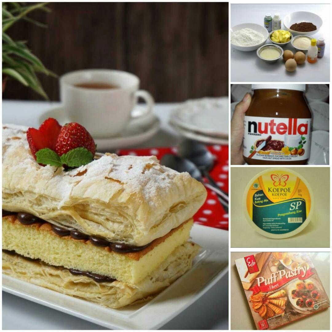 Snowcake Nutella Kue Hits Ala Artis Asal Surabaya Nutella Makanan Resep Kue