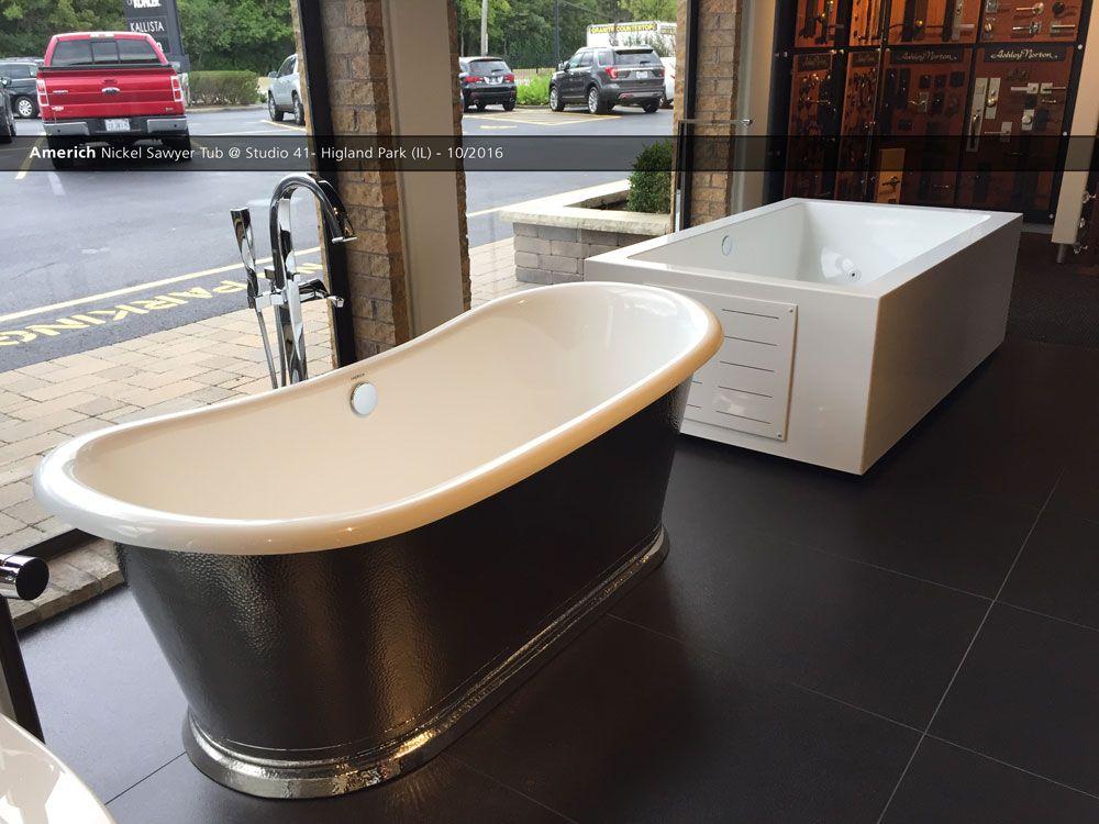 Americh Nickel Sawyer Tub Studio 41 Higland Park Il 10 2016 House Design Showroom Display Plumbing Fixtures
