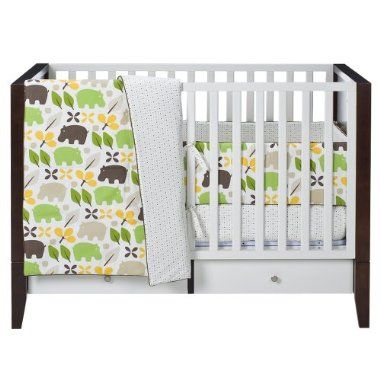 Hippo Baby Bedding Dwell Studio Crib Bedding Boy Crib Sets