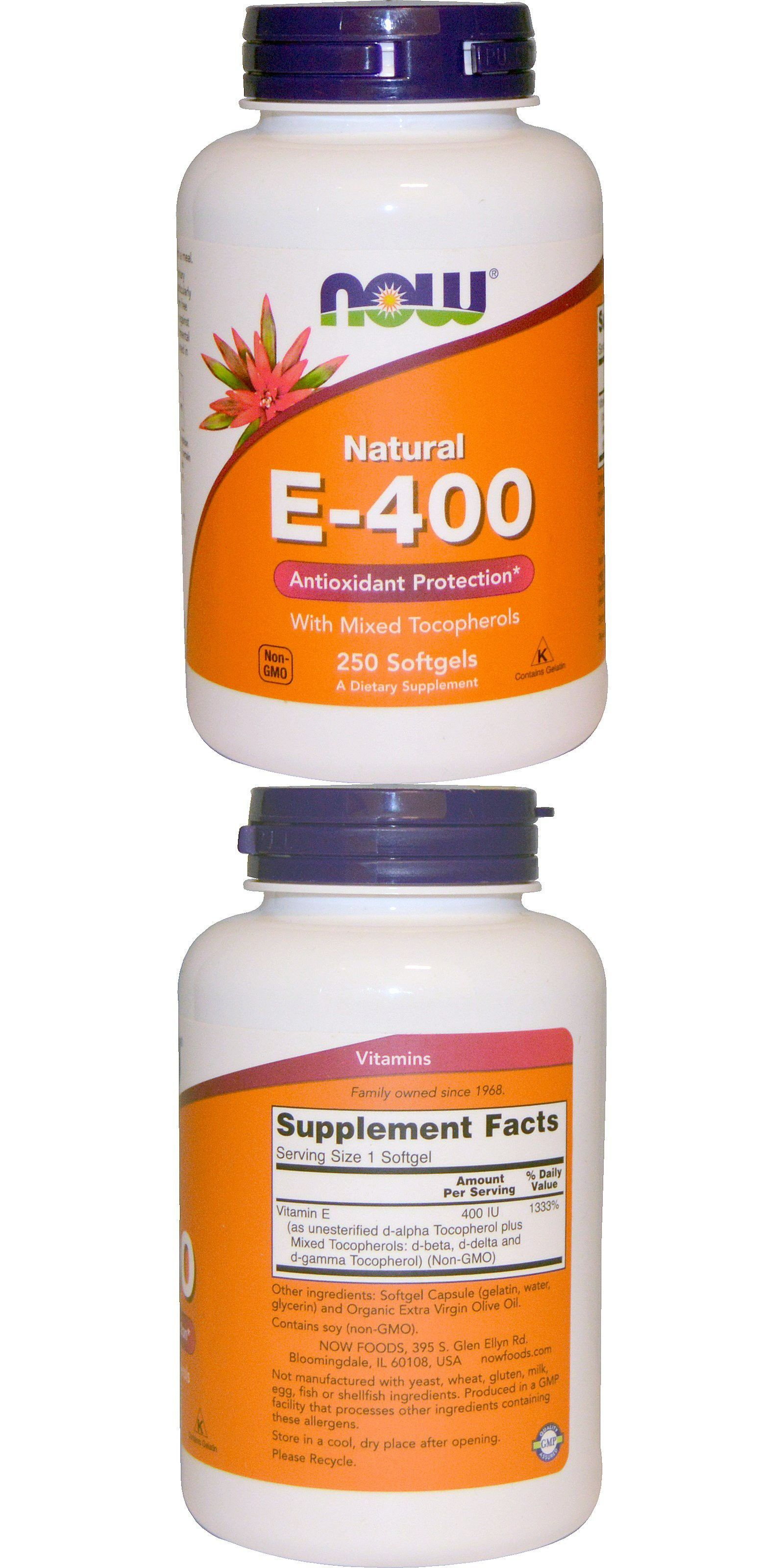 Natural e400 with mixed tocopherols 250 softgels in 2020