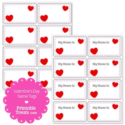 valentines day heart name tags from printabletreatscom