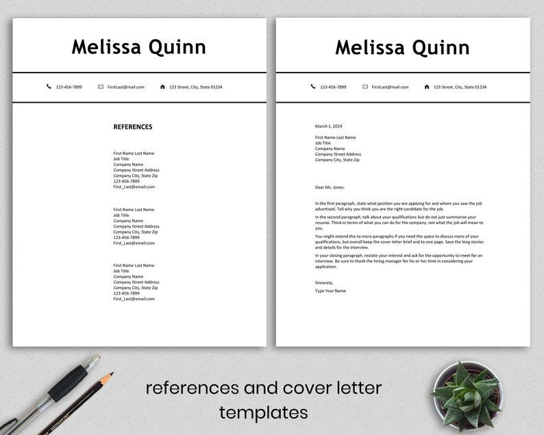 Student resume template Word, simple, modern, clean, easy