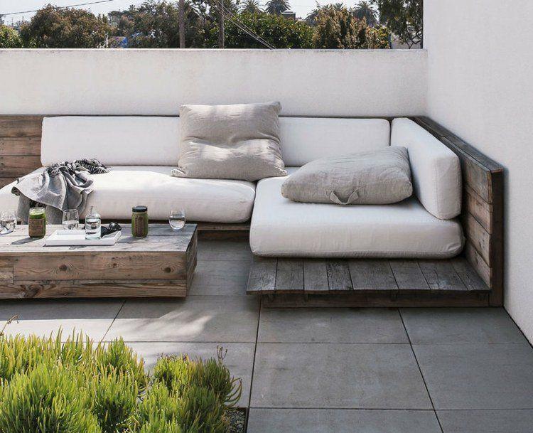 Id es de meubles en palettes diy 25 projets formidables for Canape terrasse palette