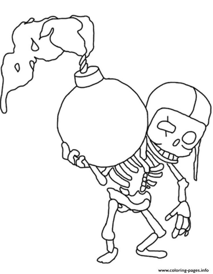 D41ad4d1e9dbe5dea31a638a612eb512 Printable Coloring Pages Free Printable Jpg 736 948 Clash Royale Para Colorear Esqueleto Dibujo Clash Royale Dibujos