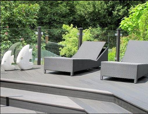Grey ecodek composite decking decking pinterest for Garden decking for sale