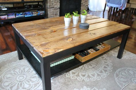 Des transformations de table ikea faire soi m me idee pinterest - Ikea table basse lack ...
