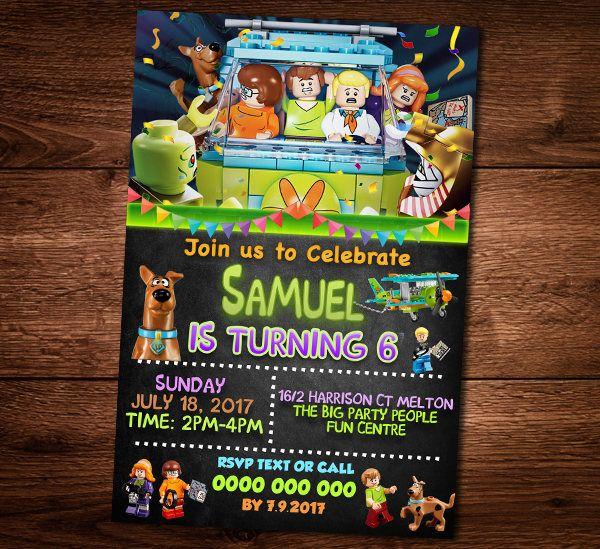 Scooby doo lego invitation card scooby doo birthday party scooby doo lego invitation card scooby doo birthday party stopboris Gallery