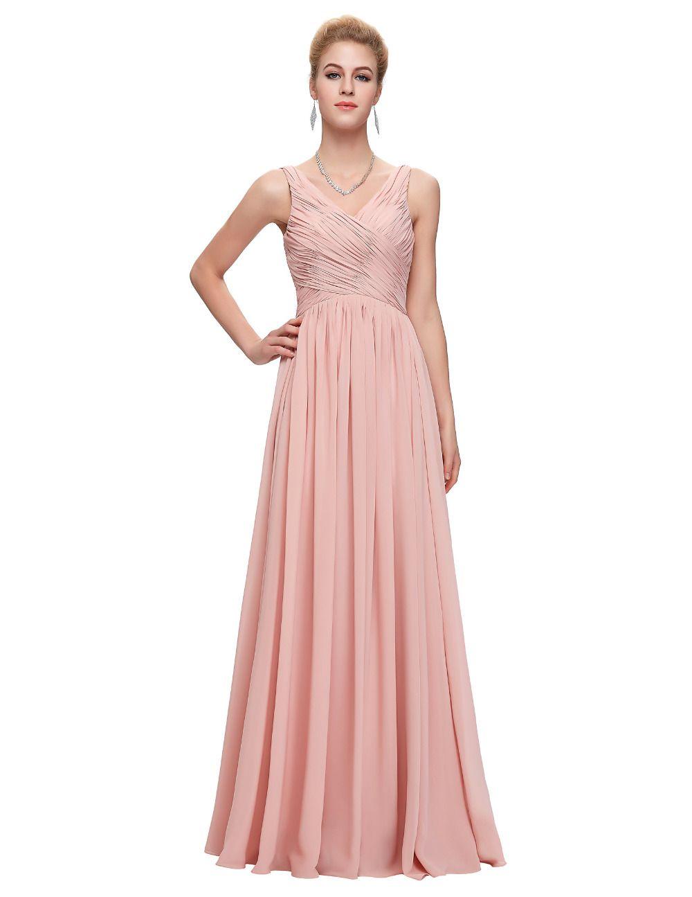 Elegant Pink Evening Dress Prom Dresses 2017 Coral Purple Green Blue ...