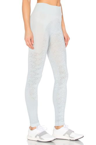dd90b65786b 59$ Adidas by Stella McCartney Essentials Snake Seamless Yoga Tights Blue  Gray XS AI8881