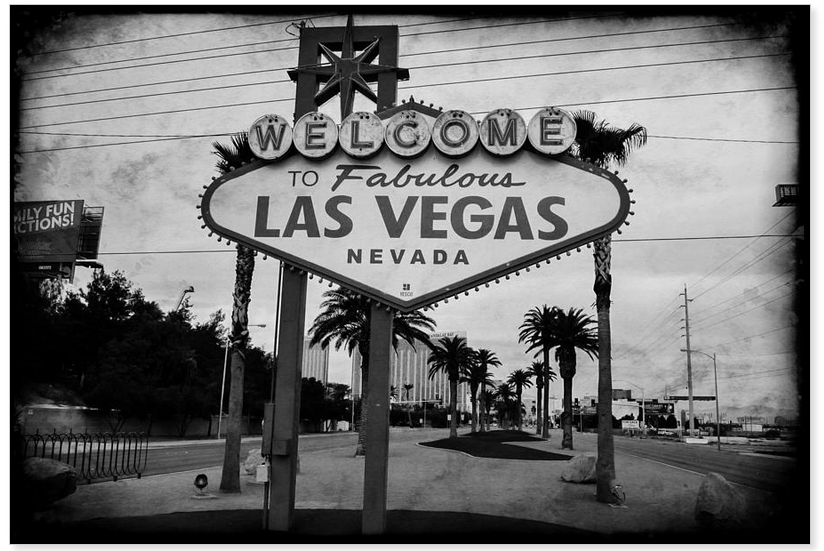 Welcome to las vegas black white metal print msqrd2 photo credit michael moriarty photography available here