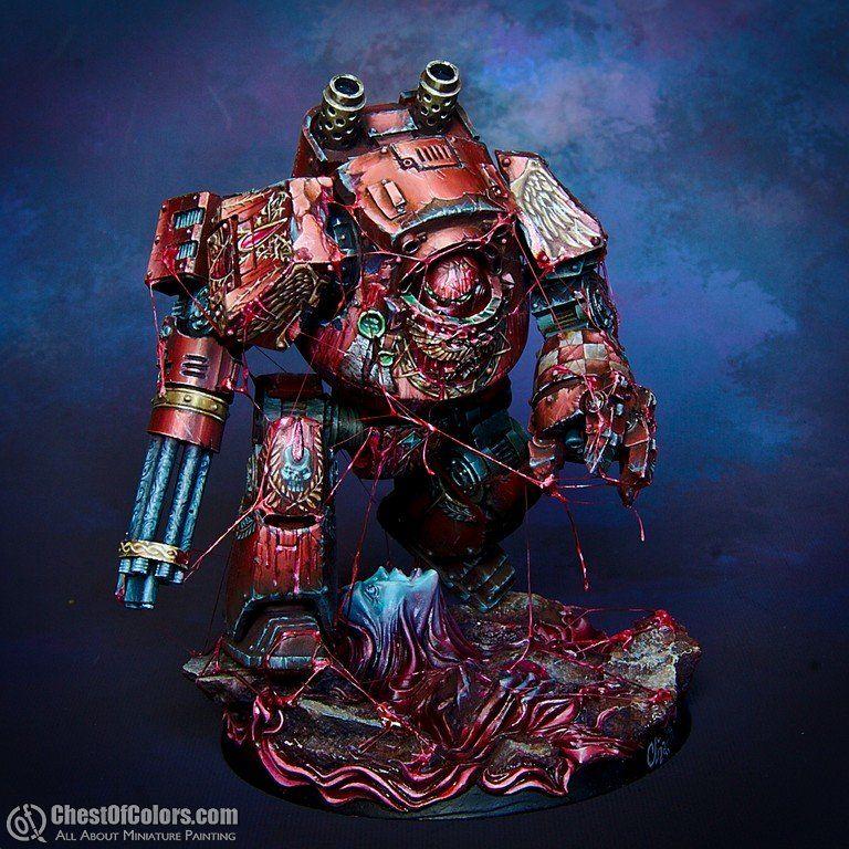 Warhammer 40k Blood Angels: Blood Angels Contemptor Dreadnought In Blood Rage