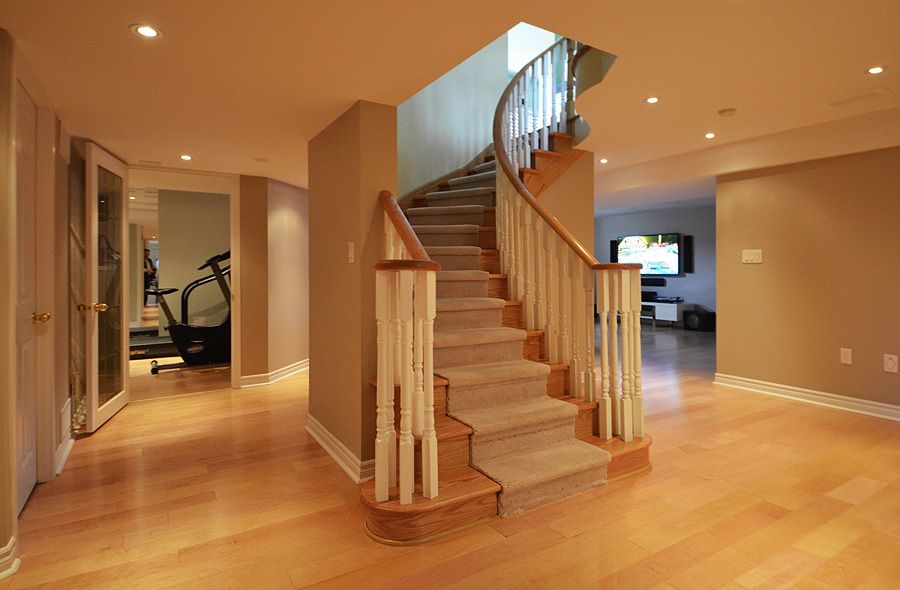 Basement stair treads stair treads pinterest open basement stairs open basement and - Basement stair ideas pinterest ...
