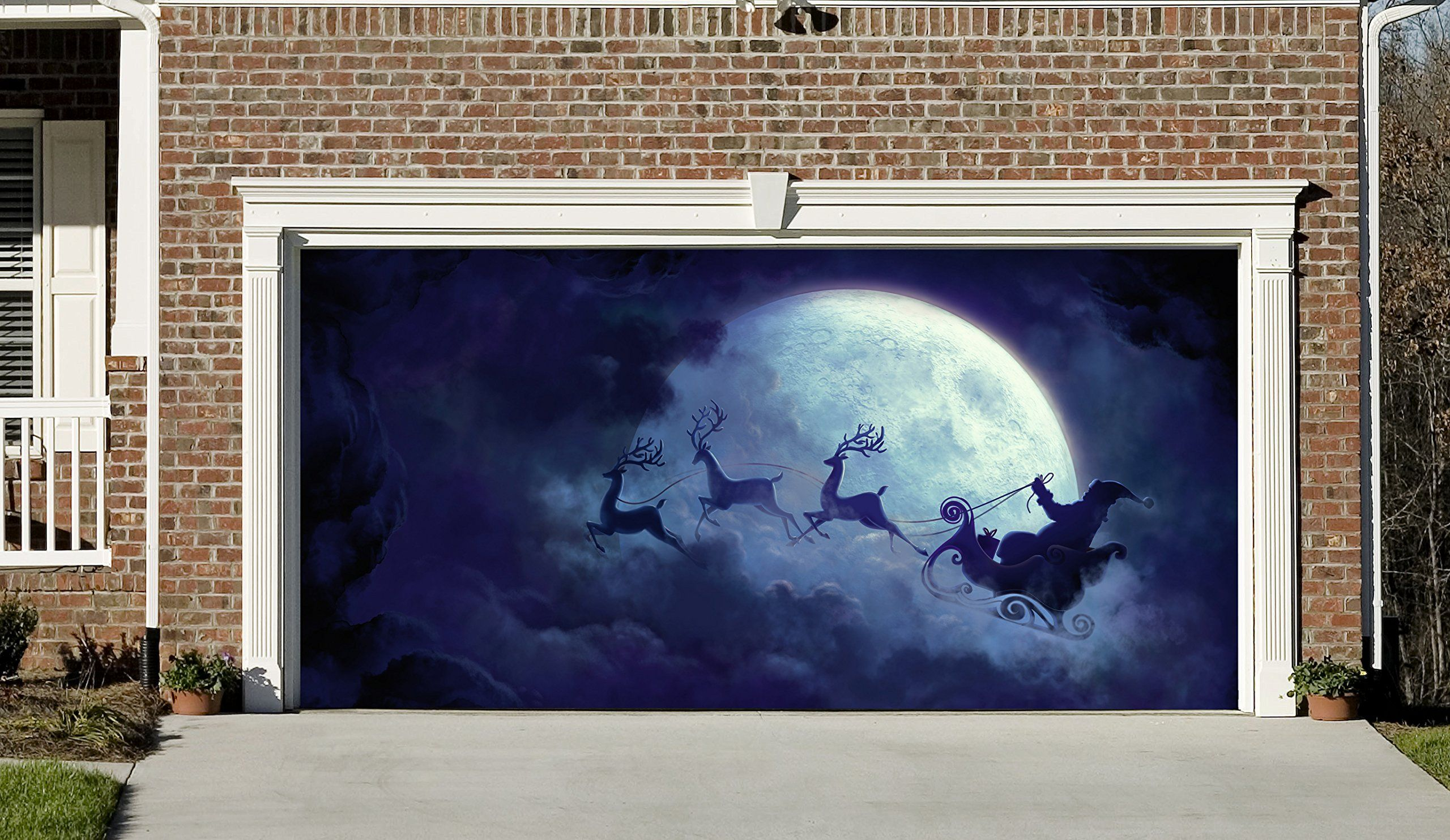 Garage Door Covers christmas garage door covers banners outside house decorations