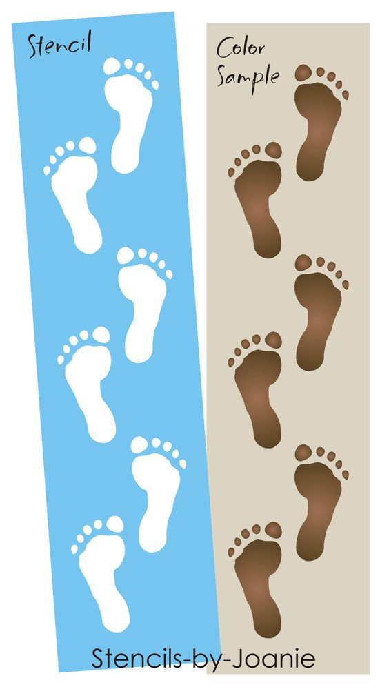 Barefoot Joanie Design Stencil Feet Naked Walk Sand Lazy -5387