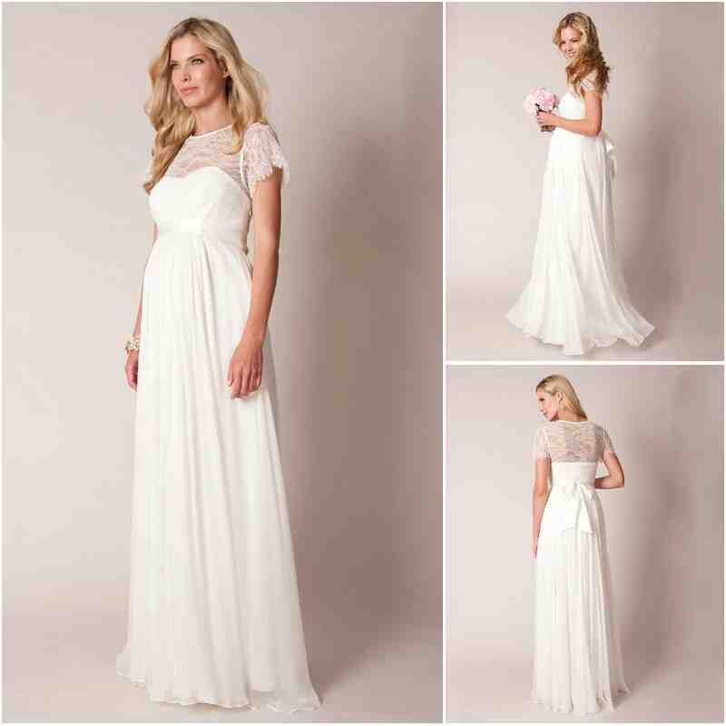Lace Maternity Wedding Dress | Maternity Wedding Dress | Pinterest ...