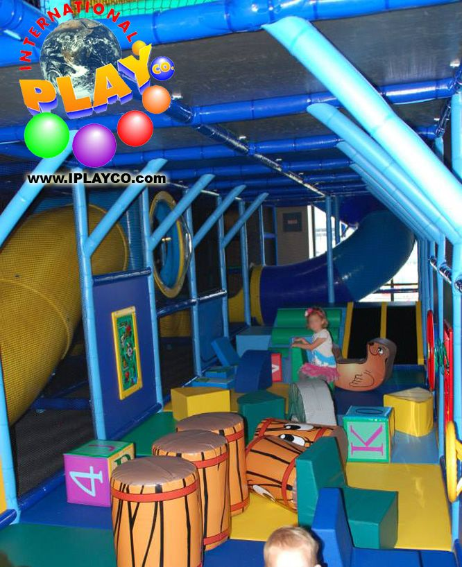 Just installed this themed indoor play structure with a soft foam ...