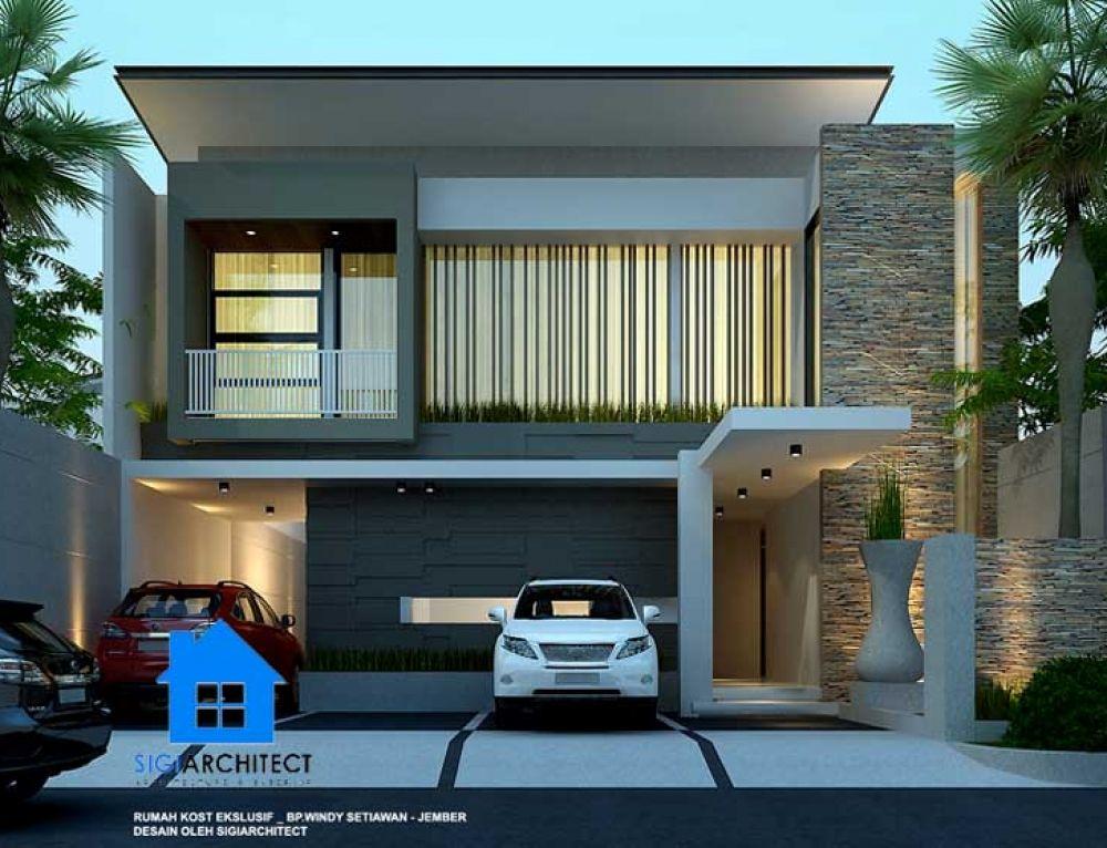 Desain Kost Eksklusif 3 Lantai Mewah Modern Minimalis Modern House Design Minimalist House Design Asian House