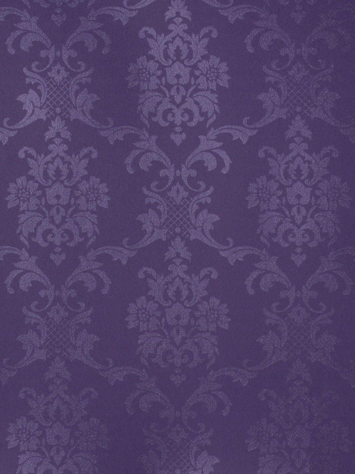 Vliestapete Rasch Textil Barock lila Love