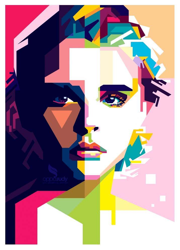 Chloe Moretz Wpap Wpap Art Pop Art Portraits Monochromatic Art