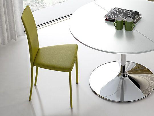 Riflessi srl sedia slim riflessi glass dining table for Sedia design srl