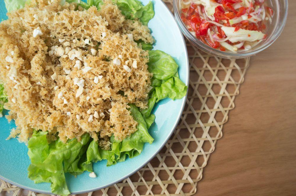 Thai Crispy Fish with Mango Salad (Yum Pla Duk Fu)