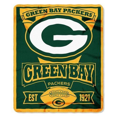 Green Bay Packers NFL Light Weight Fleece Blanket (Marque Series) (50inx60in)