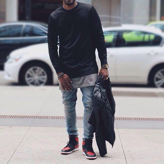 Air Jordan 1 (Bred)   Stylish mens
