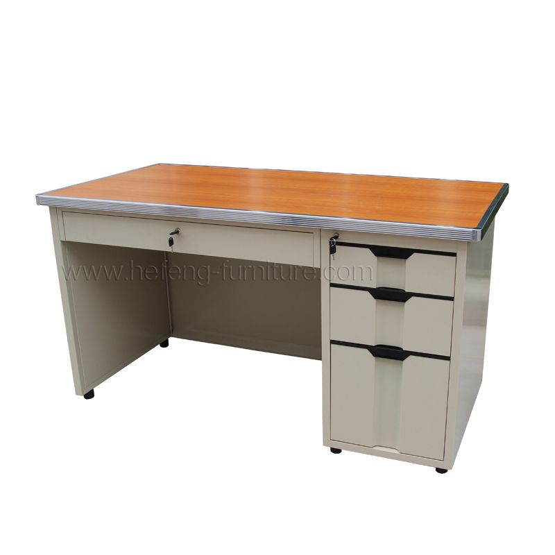 Steel Office Table Are Made With Metal Body And Mdf Top