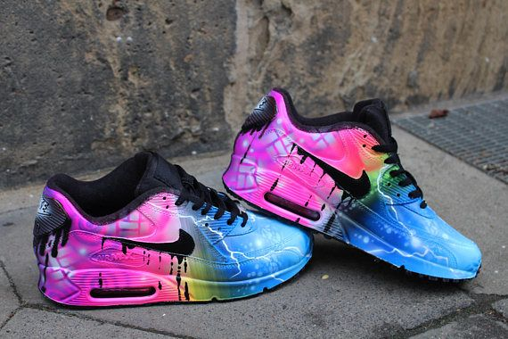 Custom painted Airbrush Nike Air Max 90