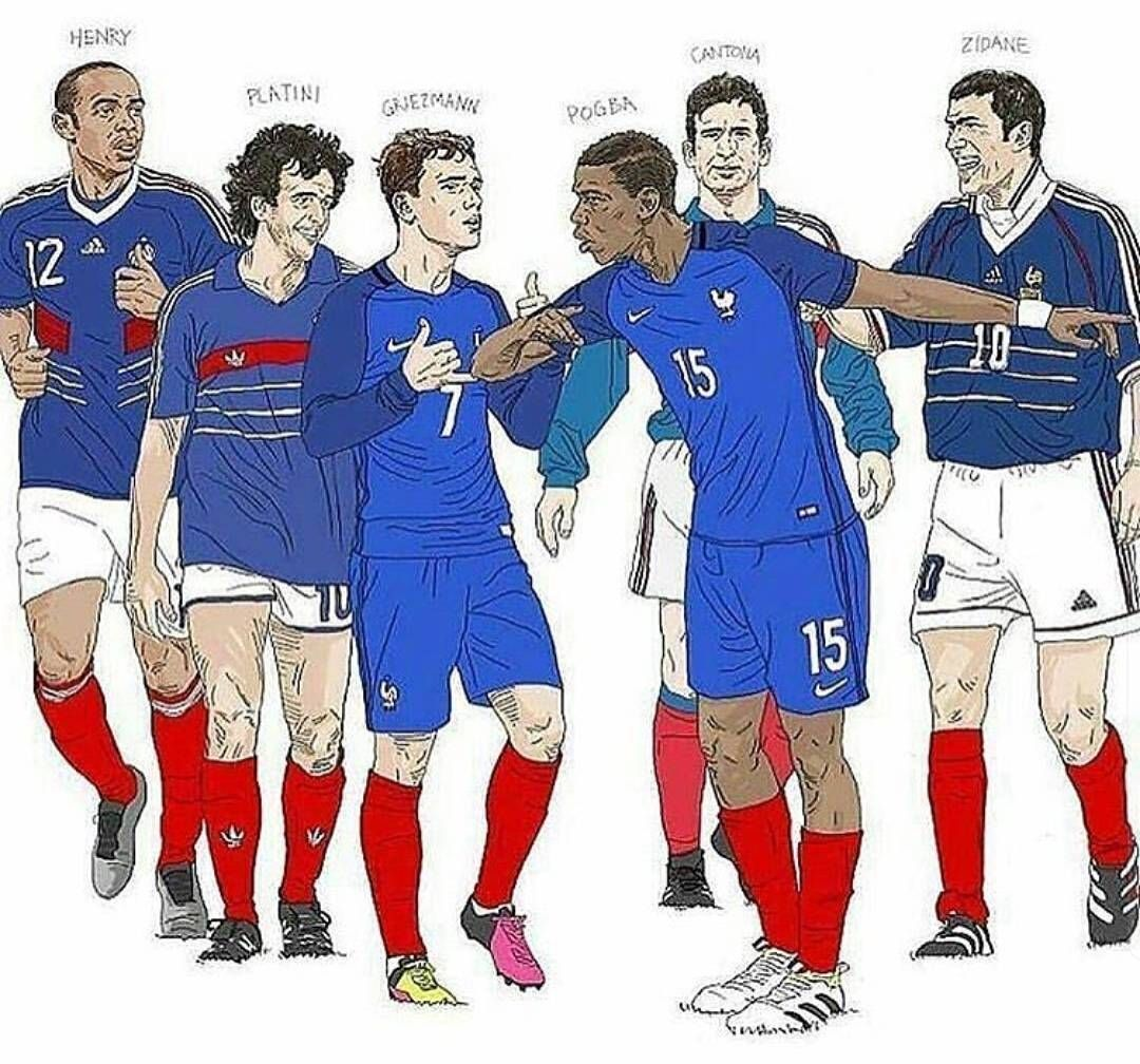 3 A Side Joga Team Who D You Pick I M Going Thierry Pogboom Zizou Henry Platini Griezmann Pogba Cantona Zidane Lesbleus France Football Socce