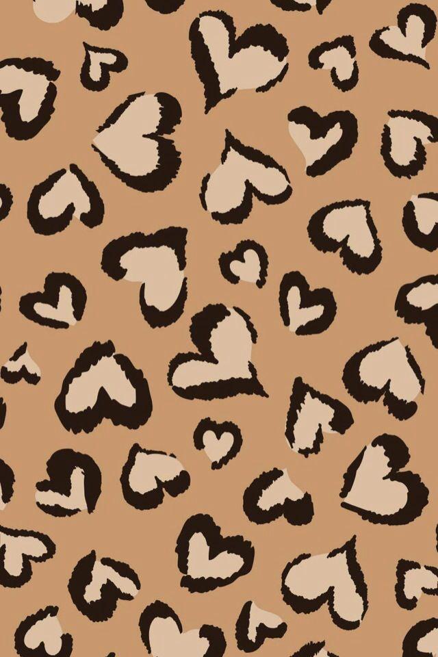 Cheetah Hearts Cheetah Print Wallpaper Animal Print Wallpaper
