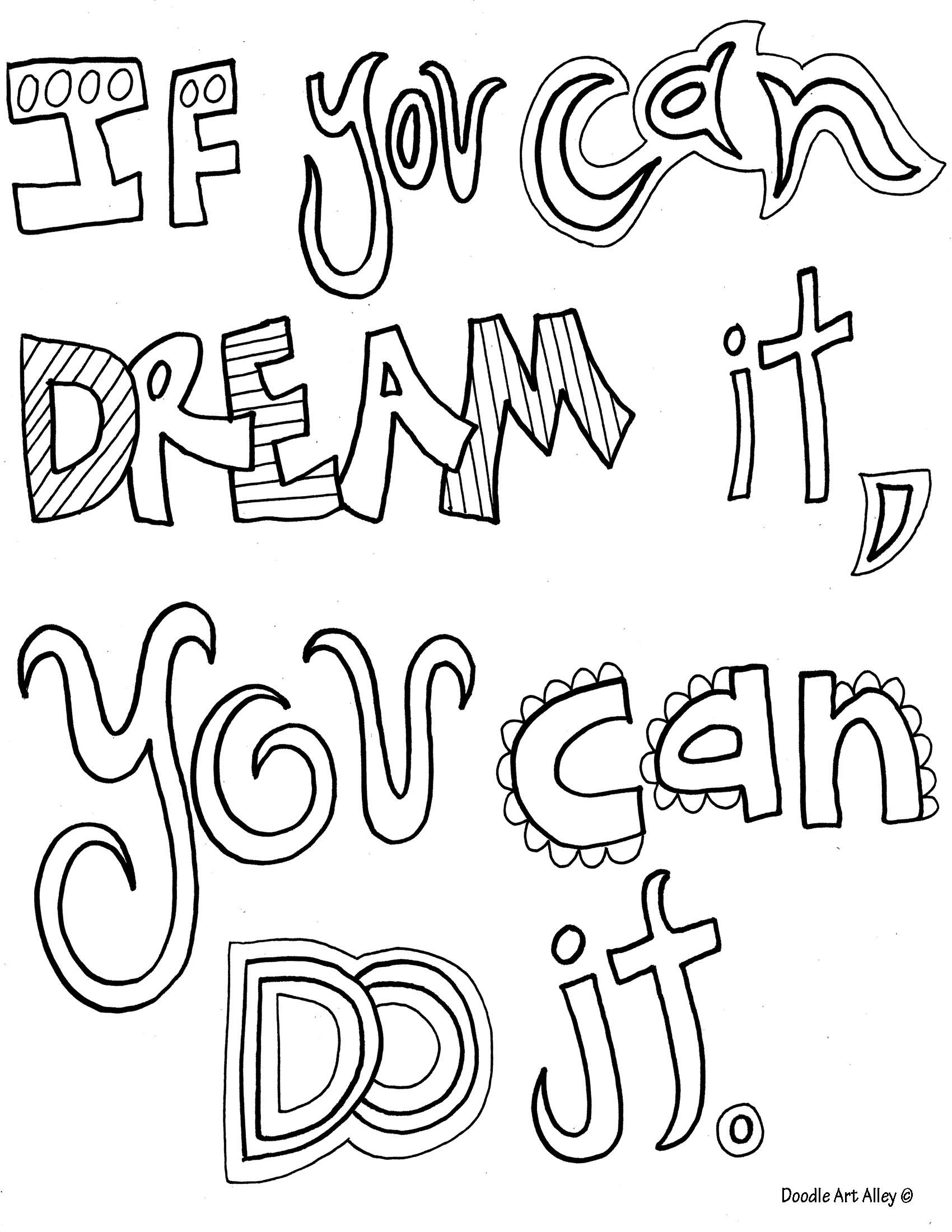 Walt Disney Quote Coloring Pages Inspirational Quotes Coloring