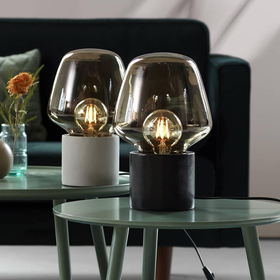 Introducing Nordlux Christina This Decorative Lamp Has A Large Smoked Glass Dome That Spreads A Warm And Soft Lig Nordlux Smoked Glass Decorative Light Bulbs