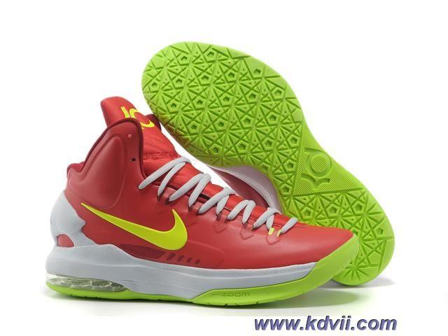 708355161758 Sale Cheap Nike Zoom KD V 5 Red White Green Basketball Shoes Basketball  Shoes Shop