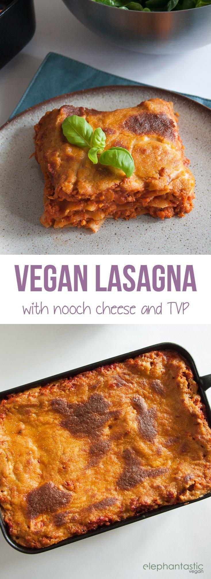 Lasagna with Nooch Cheese |