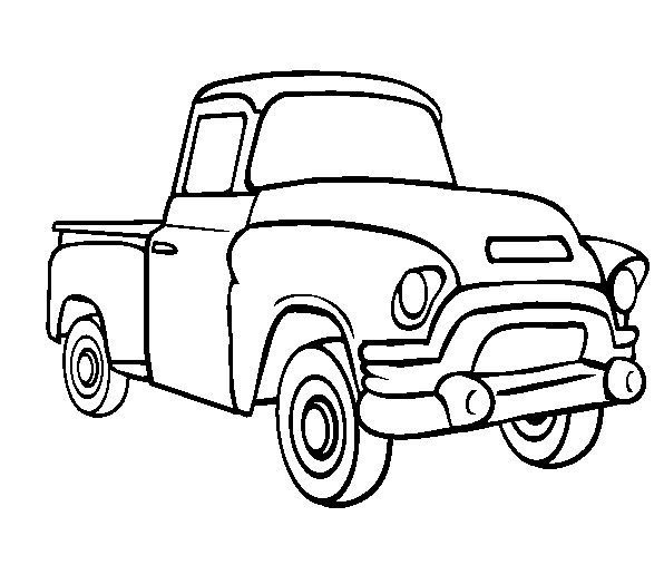 Line Drawing of old cars Classic Muscle Car Coloring Page - best of coloring pages antique cars