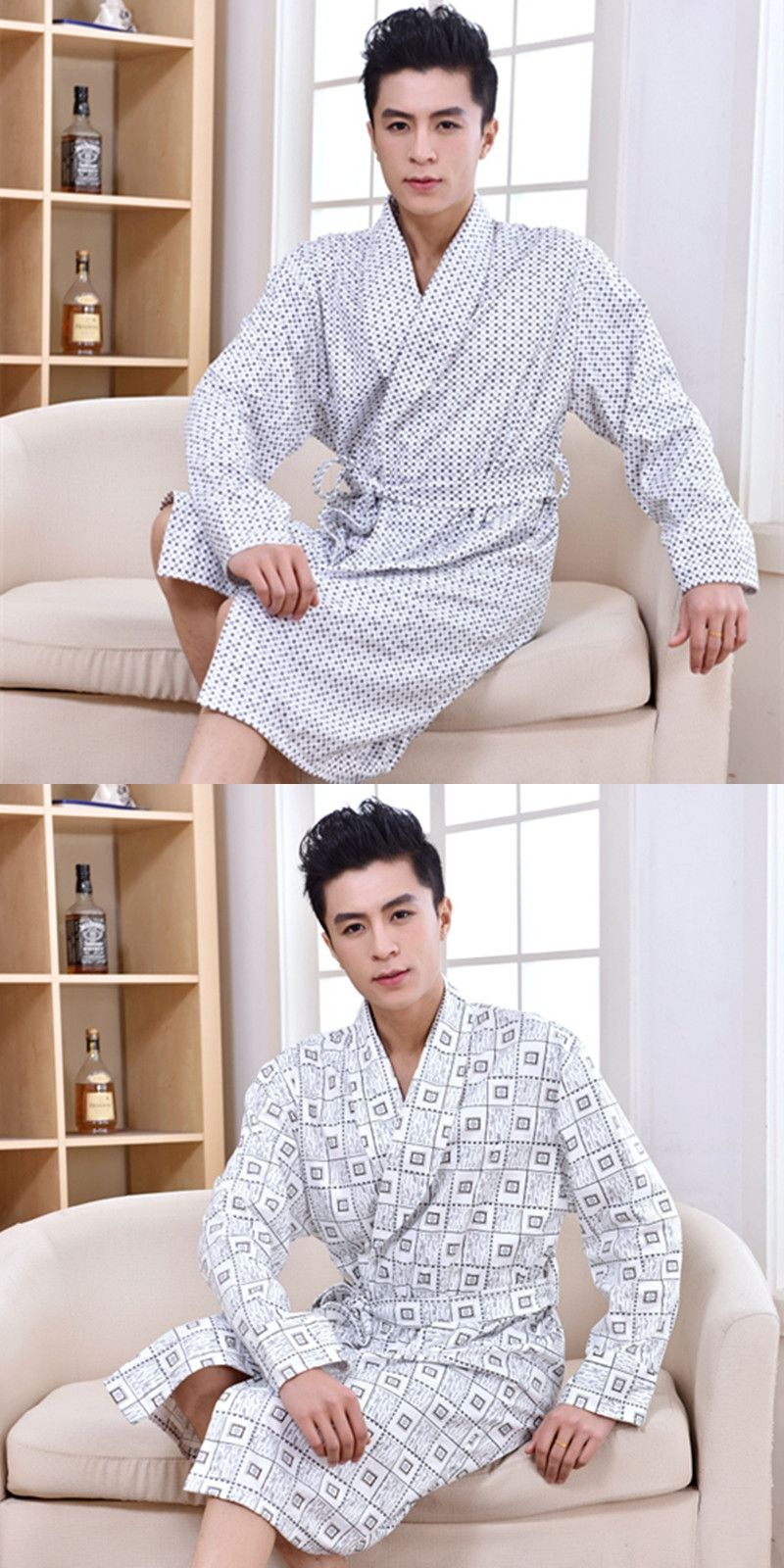 768c92a5051 2017 winter flannel robe with hooded male dressing gown empire men s bathrobe  long robe mens bath