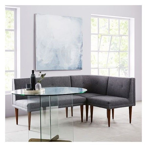 west elm style furniture. (6.300 DKK) ❤ Liked On Polyvore Featuring Home, Furniture, Benches, Mid Century Style Grey Bench, West Elm, Elm Furniture