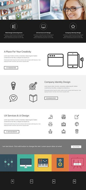 Agency Home Visual Composer Template - Supreme Shortcodes Page