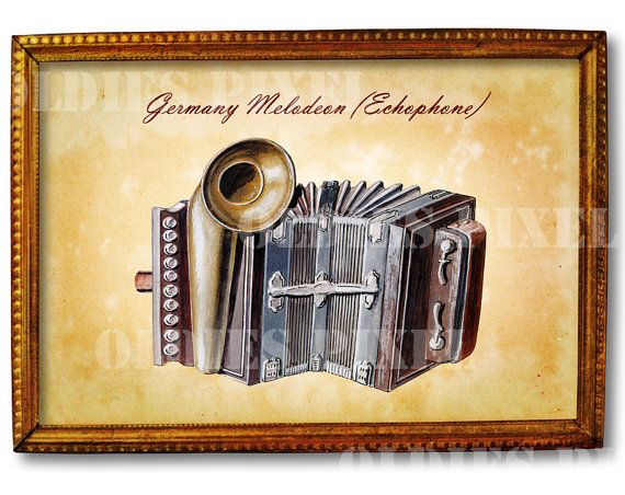 Antique Germany Melodeon  Echophone  Musical by OldiesPixel
