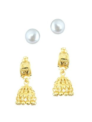 Multi Colored Gold Plated Jhumka Earrings Online Ping For Earring Pinterest Lifestyle And