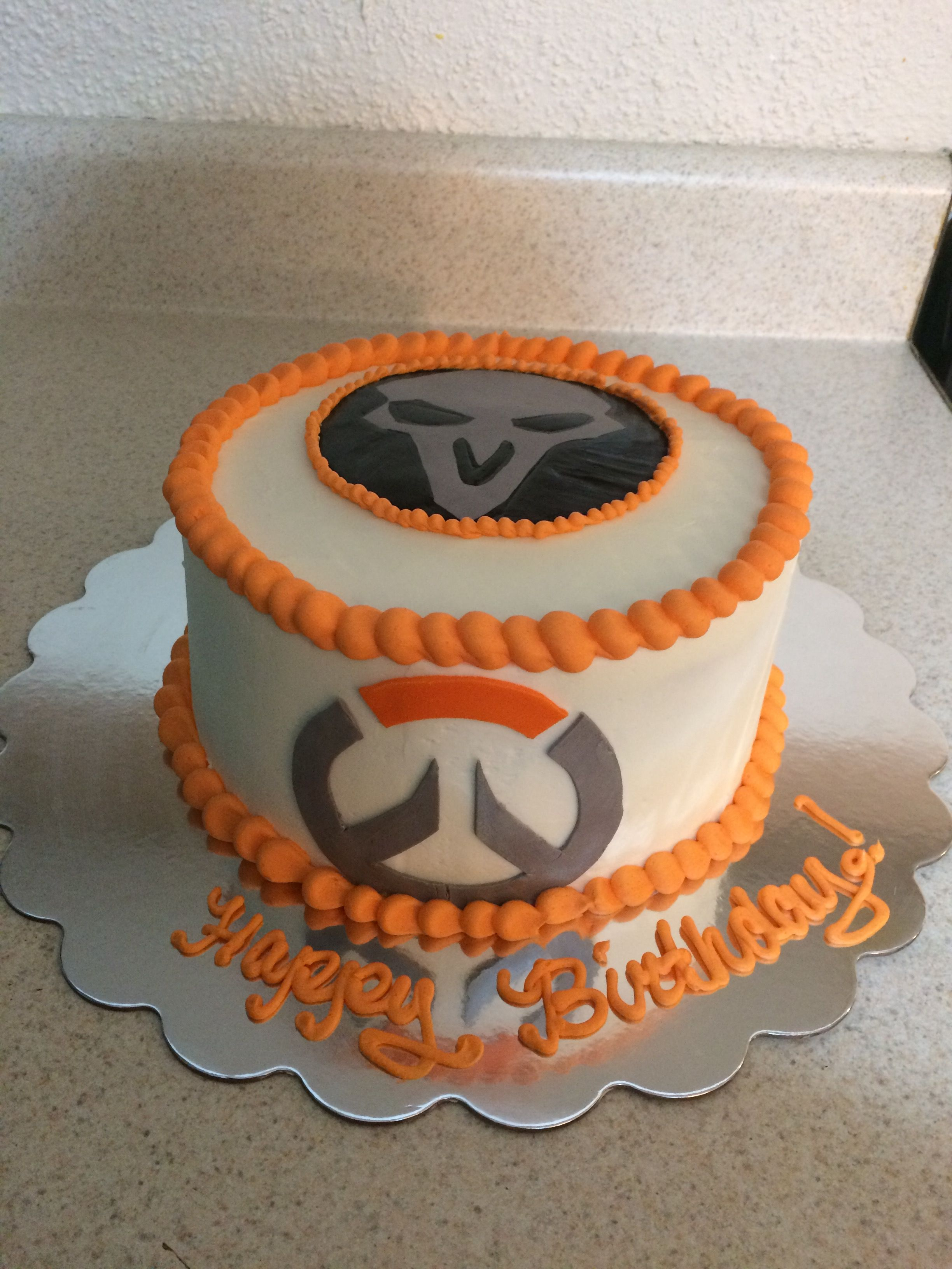 Huis OVERWATCH PERSONALISED EDIBLE ICING CAKE TOPPER 3 ...