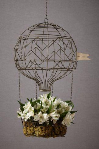 Hot Air Balloon Planter Housewares Decor Decoration Jardin
