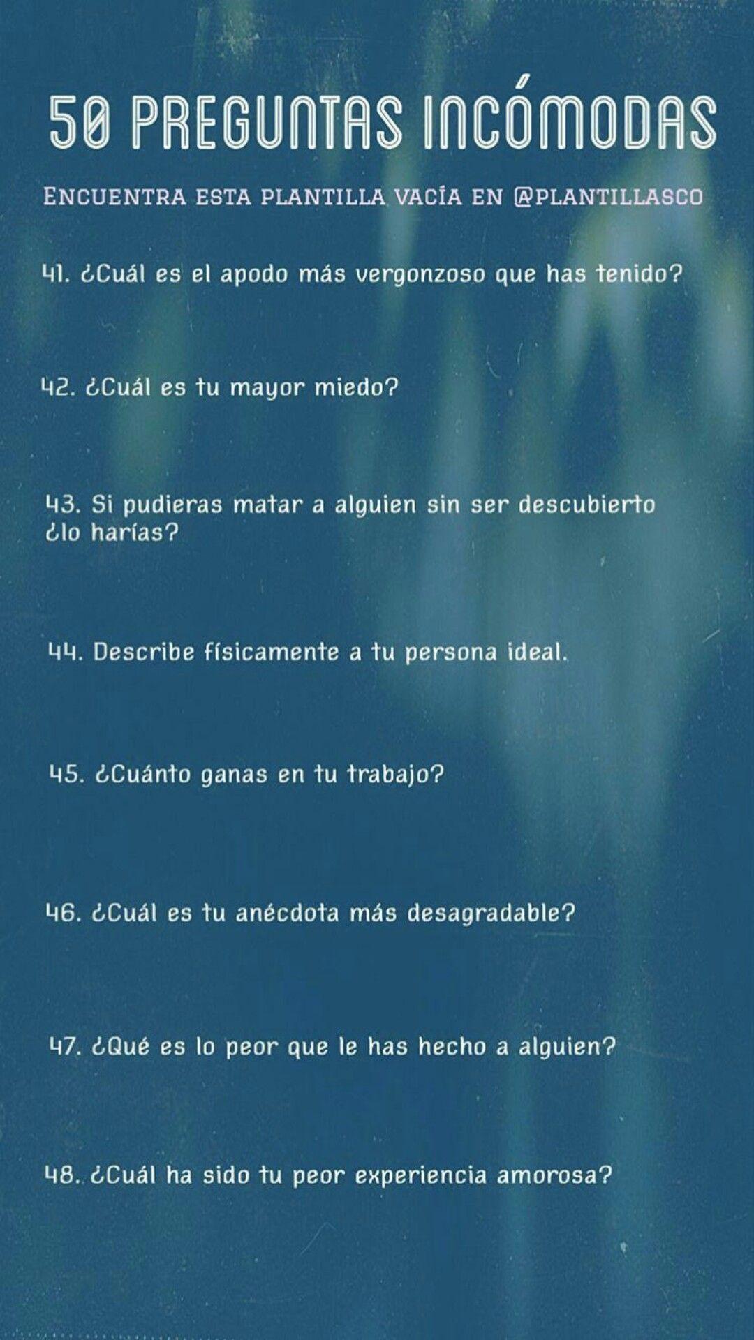 preguntas incomodas para conocer personas