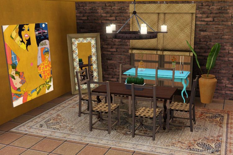 ExoticElements3: Mexican Hacienda Inspired Dining Set