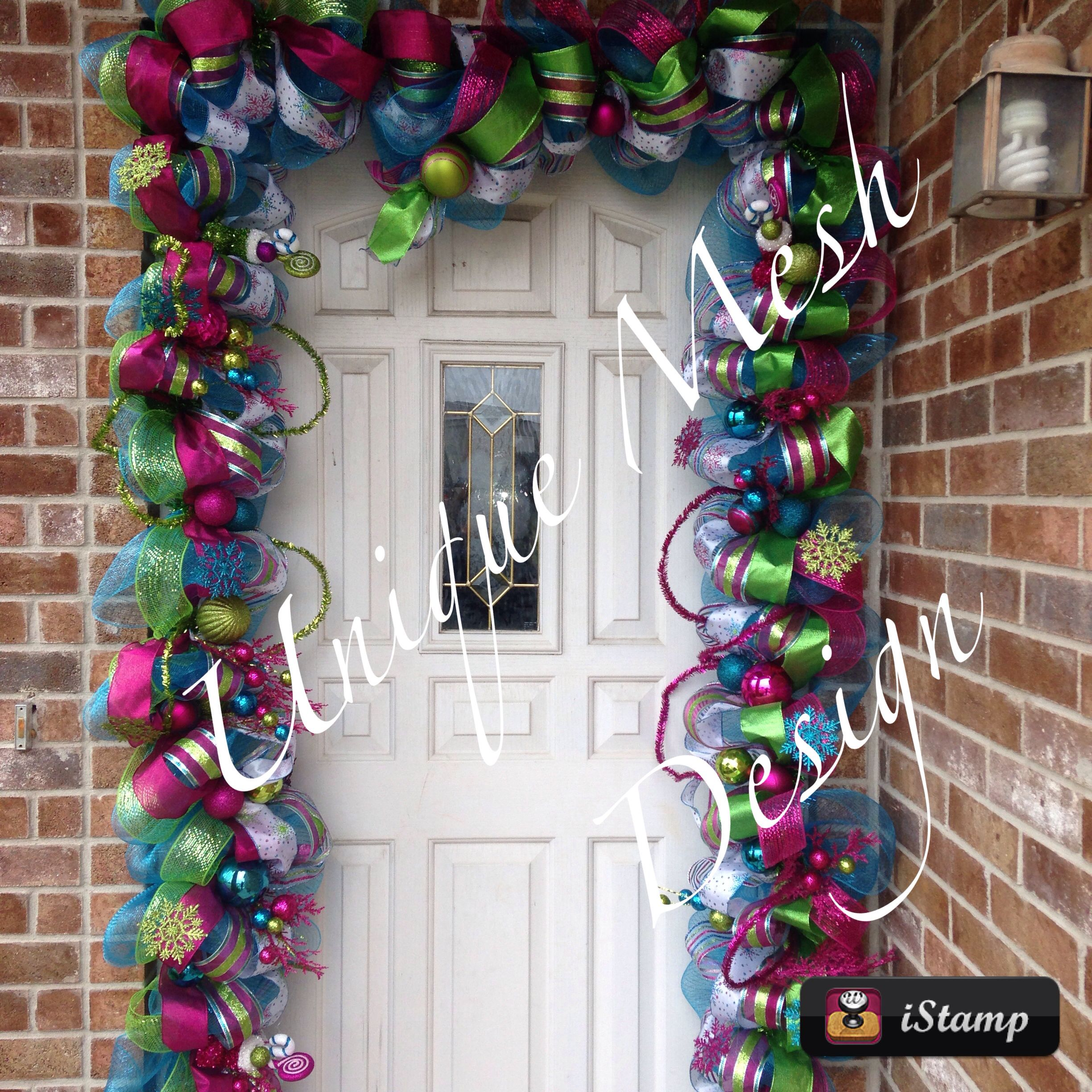 Candyland Christmas Door Decoration Ideas : Candyland themed garland christmas